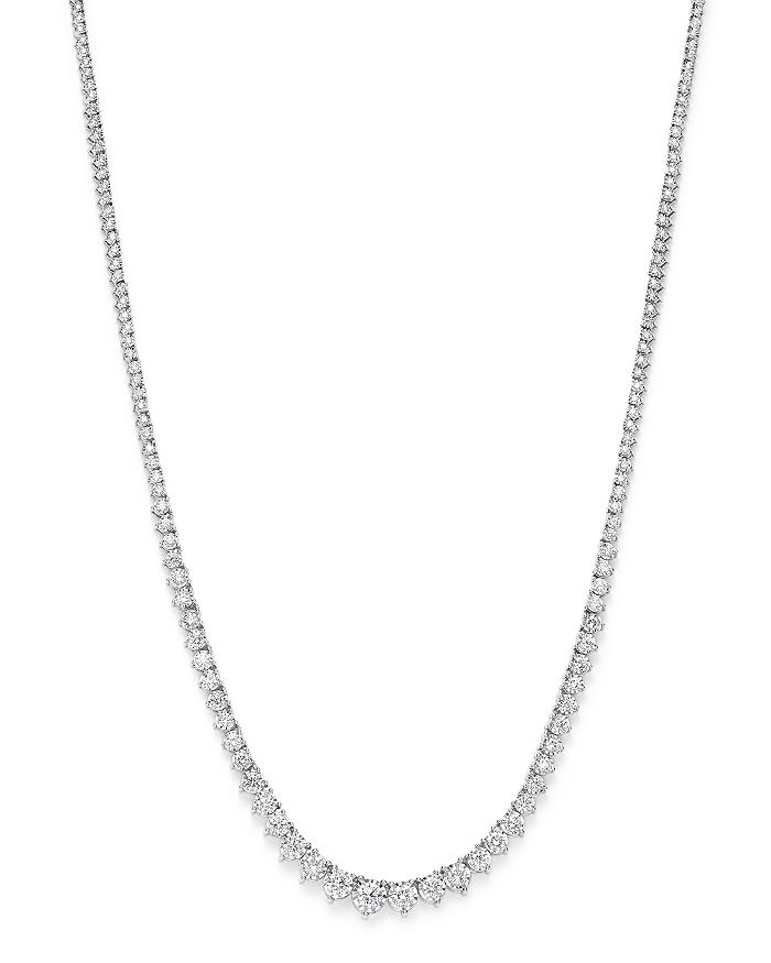 Bloomingdale's - Graduated Tennis Necklace in 14K White Gold, 5.0 ct. t.w.