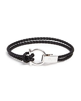 Salvatore Ferragamo - Braided Double Wrap Bracelet with Gancio Closure