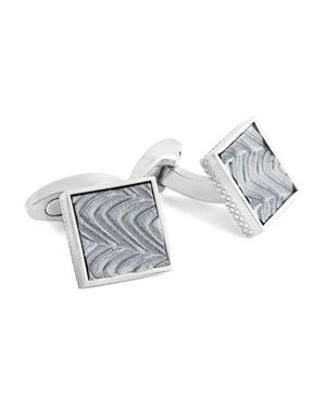 Tateossian Titanium Wave Pattern Cufflinks