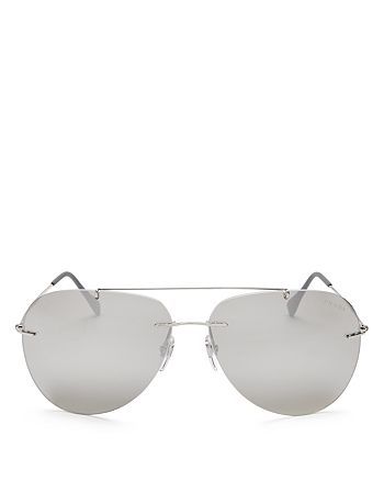 cdcbd5bf82e Prada - Men s Linea Rossa Mirrored Rimless Aviator Sunglasses
