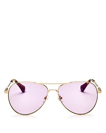 Sonix - Women's Lodi Mirrored Aviator Sunglasses, 62mm