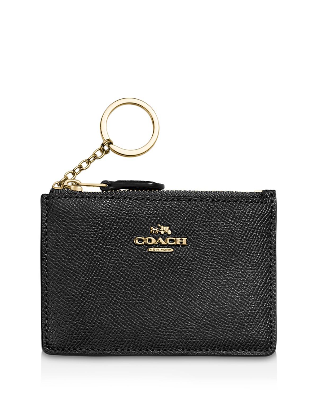 COACH Mini Skinny ID Case in Crossgrain Leather | Bloomingdale\'s
