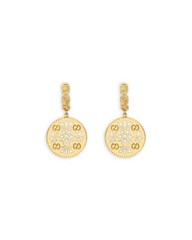Gucci - 18K Yellow Gold Large Icon Blooms Stud Earrings