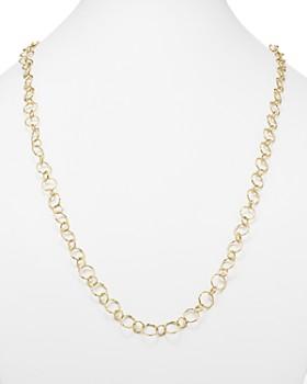 "Armenta - 18K Yellow Gold Sueno Long Circle Link Necklace, 35.5"""