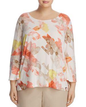 Calvin Klein Plus Floral Print Top