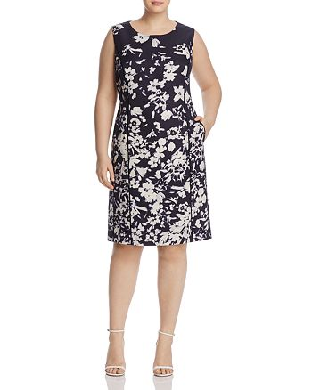 Lafayette 148 New York Plus - Evelyn Floral Print Dress
