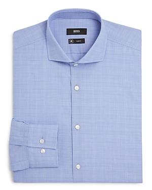 Boss Jason Glen Plaid Slim Fit Travel Collection Dress Shirt