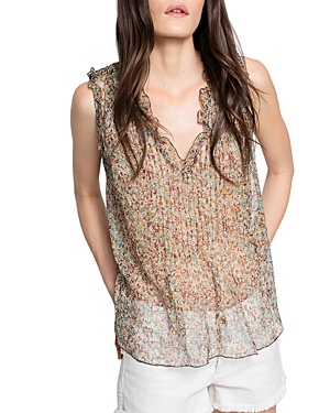 Zadig & Voltaire Thym Sheer Silk Top