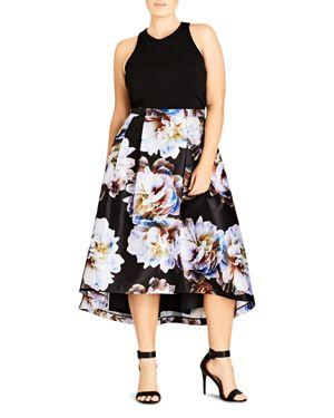 City Chic Moonlite High/Low Combo Dress