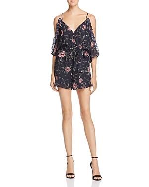 Bardot Floral Cold-Shoulder Romper - 100% Exclusive