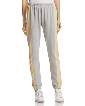 Wildfox Striped-Leg Sweatpants