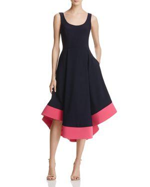 Aqua Color-Block High/Low Dress - 100% Exclusive