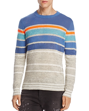 Diesel K-Colonial Striped Linen Blend Sweater