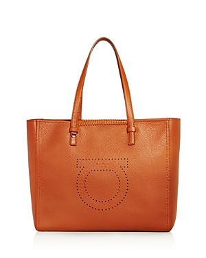 Salvatore Ferragamo Marta Large Leather Tote