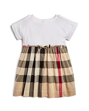 Girls Burberry Rhonda Check Dress Size 12Y  Beige