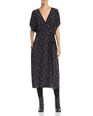 Vince Floral Dot Silk Wrap Dress