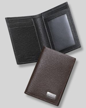 Salvatore Ferragamo Men's Revival Credit Card Holder With Id Window