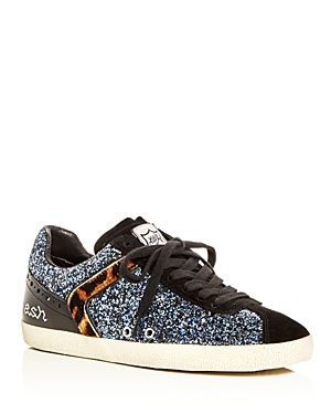 Ash Glitter Lace Up Sneakers