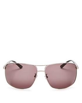 Gucci - Men's Brow Bar Square Sunglasses, 66mm