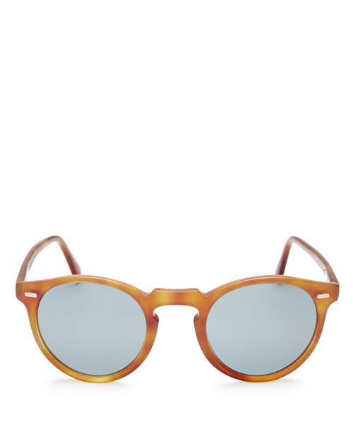 Oliver Peoples - Men's Gregory Peck Round Sunglasses, 47mm