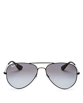 Ray-Ban - Unisex Polarized Aviator Sunglasses, 58mm