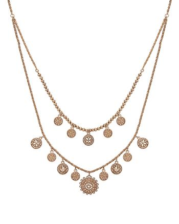 """Marchesa - Two Row Necklace, 25"""""""