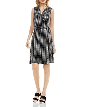 Vince Camuto Geometric Print Wrap Dress