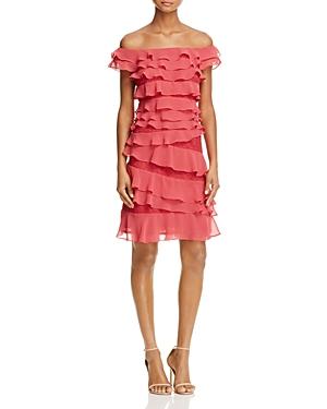 Adrianna Papell Chiffon Ruffle Dress