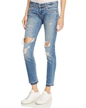 rag & bone/Jean The Dre Slim Boyfriend Crop Jeans in Kennedy - 100% Exclusive