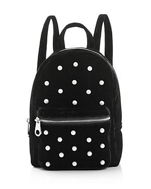 Studio 33 Faux-Pearl Velvet Backpack