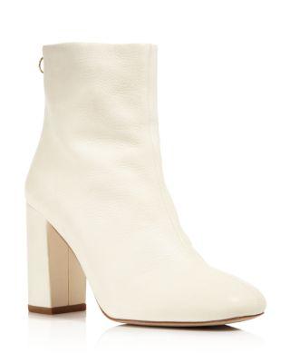 $Joie Saleema Leather Block Heel Booties - Bloomingdale's
