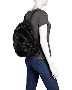 Kendall + Kylie - Sloane Checkered Faux-Fur Backpack - 100% Exclusive