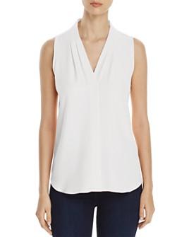Calvin Klein - V-Neck Sleeveless Blouse