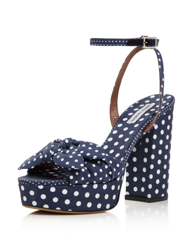 Tabitha Simmons Jodie Polka Dot Platform High-Heel Sandals