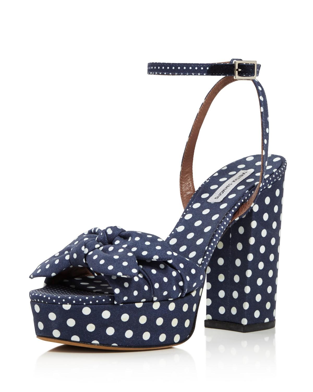Tabitha Simmons Jodie Polka Dot Platform High-Heel Sandals MwtMzFQz