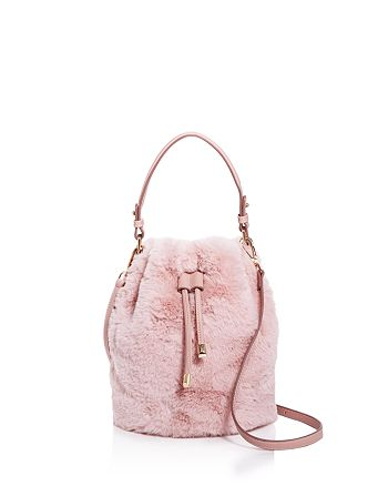 4fc773435e Street Level - Faux-Fur Bucket Bag - 100% Exclusive