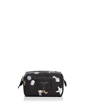 Marc Jacobs Knot Tossed Charms Print Nylon Cosmetics Case