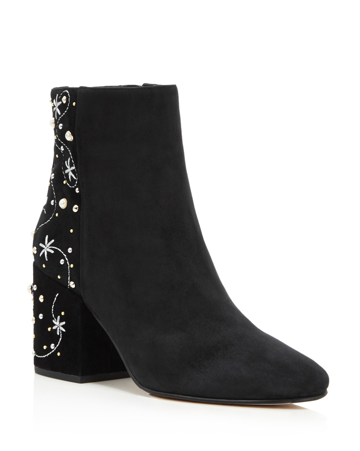 Sam Edelman Taft Embroidered Pearl Stud Booties - 100% Exclusive wCaN24