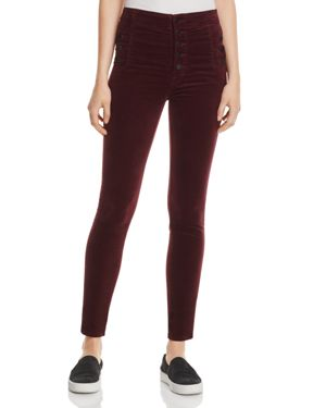 J Brand Natasha Super Skinny Velvet Jeans in Deep Mulberry - 100% Exclusive 2628408