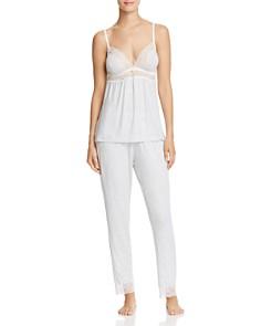Eberjey Lace Trim Cami & Slim Pants - Bloomingdale's_0