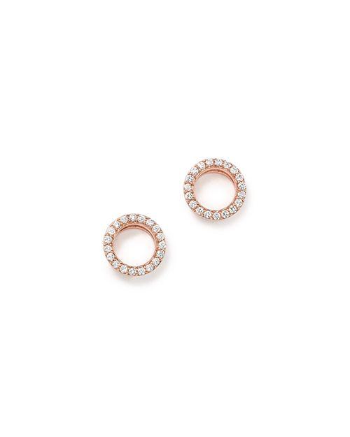 Bloomingdale's - Diamond Circle Stud Earrings in 14K Rose Gold, .20 ct. t.w.- 100% Exclusive