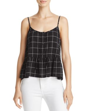 Current/Elliott The Workwear Peplum Top