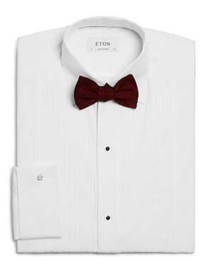 Eton focuses on premier craftsmanship for the discerning gentleman with this finely tailored formal dress shirt, woven in soft cotton and finished for a clean, classic look every time.