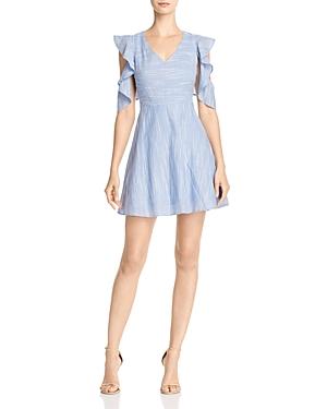 Joa Ruffle-Sleeve Fit & Flare Dress