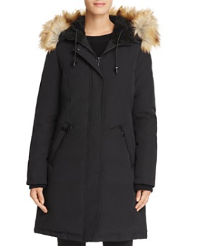 VINCE CAMUTO - Hooded Faux Fur Trim Parka