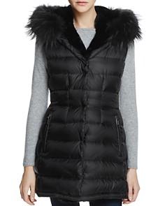 Dawn Levy - Brittany Traveler Fur Trim Down Vest - 100% Exclusive