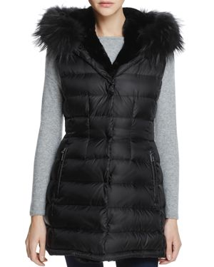 Dawn Levy Brittany Traveler Fur Trim Down Vest - 100% Exclusive