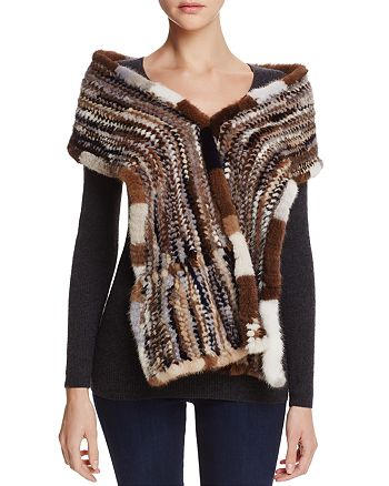 Maximilian Furs - Knit Mink Fur Stole
