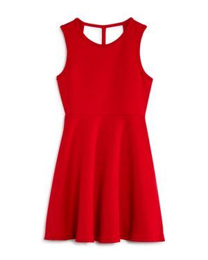 Aqua Girls' Lattice-Back Skater Dress, Big Kid - 100% Exclusive