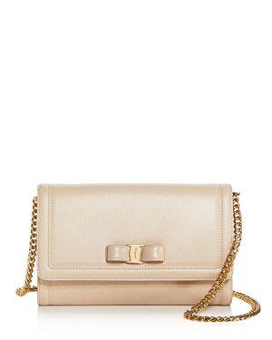 Salvatore Ferragamo Miss Vara Score Leather Mini Bag